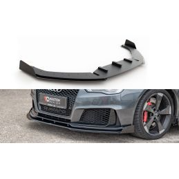 Sport Durabilité Lame Du Pare-Chocs Avant + Flaps Audi RS3 8V Sportback Noir + Rabats Brillant    , NOUVEAUX PRODUITS