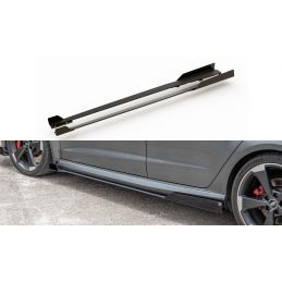 Maxton design Sports Durabilité Rajouts Des Bas De Caisse + Flaps Audi Rs3 8v Sportback Black-Red +
