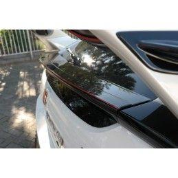 Maxton design Inférieur Becquet Extension V.3 Honda Civic X Type R Gloss Black