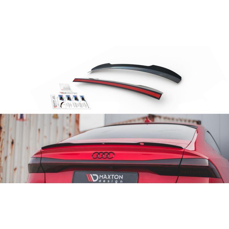 Maxton design Spoiler Cap Audi A7 C8 S-Line Gloss Black