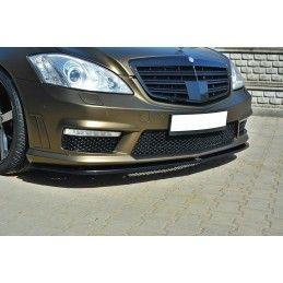 Maxton design Lame De Pare-Chocs Avant Mercedes S-Class W221 Amg Carbon Look