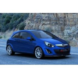 Maxton design Lame De Pare-Chocs Avant Opel Corsa D (apres Facelift) Carbon Look
