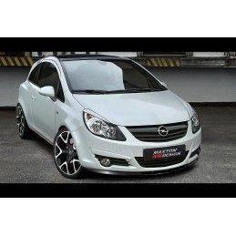 Maxton design Lame De Pare-Chocs Avant Opel Corsa D (avant Facelift) Carbon Look