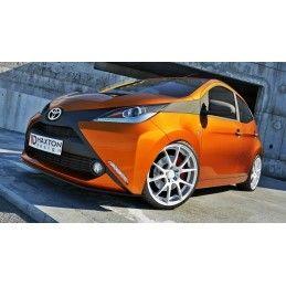 Lame Du Pare-Chocs Avant Toyota Aygo Mk2 Carbon Look