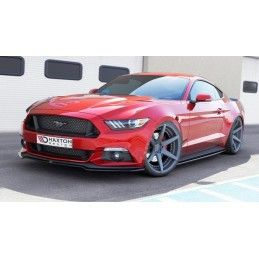 Lame Du Pare-Chocs Avant Ford Mustang Mk6 Carbon Look