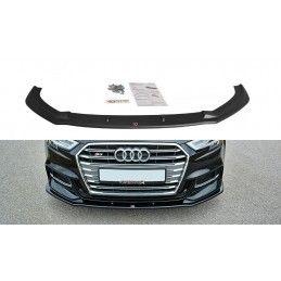 Maxton design Lame Du Pare-Chocs Avant V.1 Audi S3 / A3 S-Line 8v Fl Carbon Look