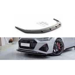 Lame Du Pare-Chocs Avant V.2 Audi Rs6 C8 Carbon Look