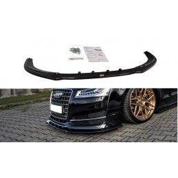 Lame Du Pare-Chocs Avant V.1 Audi S8 D4 FL Noir Brillant, A8/S8 D4