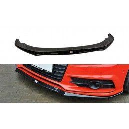 Lame Du Pare-Chocs Avant Audi S7 / A7 S-Line C7 Fl Gloss Black