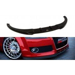 Maxton design Lame Du Pare-Chocs Avant Audi Tt 8j Gloss Black