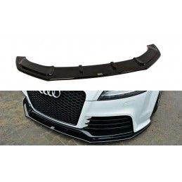 Maxton design Lame Du Pare-Chocs Avant V.1 Audi Tt Rs 8j Gloss Black