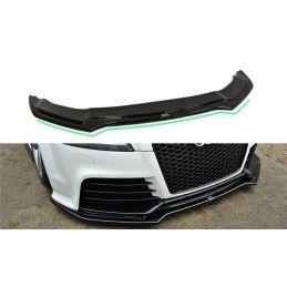 Maxton design Lame Du Pare-Chocs Avant V.2 Audi Tt Rs 8j Gloss Black