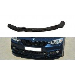 LAME DU PARE-CHOCS AVANT v.1 BMW 4 F32 M-PACK Noir Brillant, Serie 4 F32/ M4