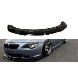 Maxton design Lame De Pare-Chocs Avant Bmw 6 E63 / E64 (avant Facelift) V.2 Gloss Black