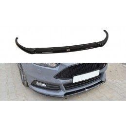 Maxton design Lame Du Pare-Chocs Avant Ford Focus St Mk3 Fl (cupra) Gloss Black