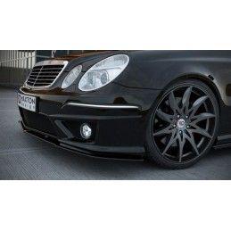 LAME DU PARE-CHOCS AVANT MERCEDES E W211 AMG APRES FACELIFT Noir Brillant, W211