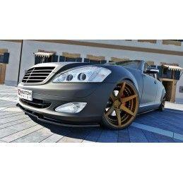 Maxton design Lame De Pare-Chocs Avant Mercedes S-Class W221 Gloss Black
