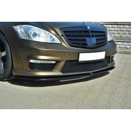 Maxton design Lame De Pare-Chocs Avant Mercedes S-Class W221 Amg Gloss Black