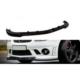Maxton design Lame Du Pare-Chocs Avant Mercedes Slk R170 Pour Le Pare-Chocs Amg 204 Gloss Black