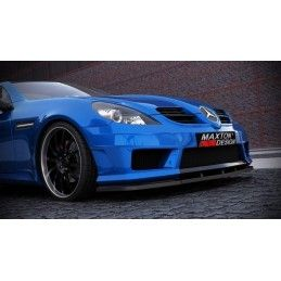 Maxton design Lame De Pare-Chocs Avant Mercedes Slk R171 (pour Me-Slk-R171-Amg172-F1) Gloss Black