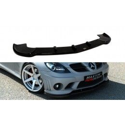 Maxton design Lame Du Pare-Chocs Avant Mercedes Slk R171 (pour Me-Slk-R171-Amg204-F1) Gloss Black
