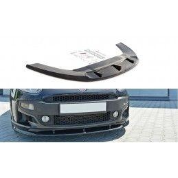 Maxton design Lame Du Pare-Chocs Avant Fiat Punto Evo Abarth Gloss Black
