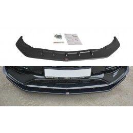LAME DU PARE-CHOCS AVANT V.1 Mercedes CLA A45 AMG C117 Facelift Noir Brillant, CLA