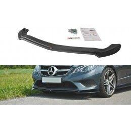 Maxton design Lame Du Pare-Chocs Avant V.1 Mercedes E W212 Gloss Black