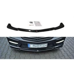 LAME DU PARE-CHOCS AVANT / SPLITTER V.1 MERCEDES-BENZ E63 AMG W212  Noir Brillant, W212