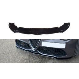Maxton design Lame Du Pare-Chocs Avant / Splitter V.1 Alfa Romeo Giulia Veloce Gloss Black
