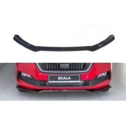 Maxton design Lame Du Pare-Chocs Avant V.2 Skoda Scala Gloss Black