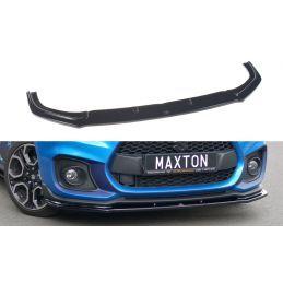 Maxton design Lame Du Pare-Chocs Avant / Splitter V.1 Suzuki Swift 6 Sport Gloss Black