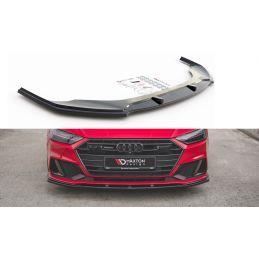 Lame Du Pare-Chocs Avant V.2 Audi A7 C8 S-Line Gloss Black