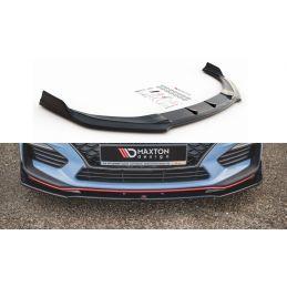 Maxton design Lame Du Pare-Chocs Avant V.3 Hyundai I30 N Mk3 Hatchback/ Fastback Gloss Black