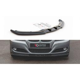 Maxton design Lame Du Pare-Chocs Avant V.2 Bmw 3 E90/E91 Facelift Gloss Black