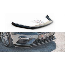 Maxton design Lame Du Pare-Chocs Avant V.7 Seat Leon Cupra / Fr Mk3 Fl Gloss Black