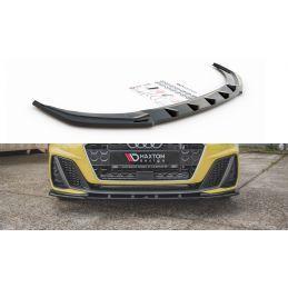 Lame Du Pare-Chocs Avant V.1 Audi A1 S-Line GB Noir Brillant, A1 GB 2018-