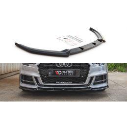 Maxton design Lame Du Pare-Chocs Avant V.3 Audi S3 / A3 S-Line 8v Facelift Gloss Black