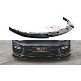Lame Du Pare-Chocs Avant V.1 Porsche Panamera Turbo 970 Facelift Noir Brillant, Panamera
