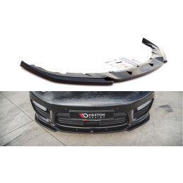 Lame Du Pare-Chocs Avant V.2 Porsche Panamera Turbo 970 Facelift Noir Brillant, Panamera