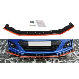 Maxton design Lame Du Pare-Chocs Avant / Splitter V.4 Subaru Brz Facelift Textured + Red
