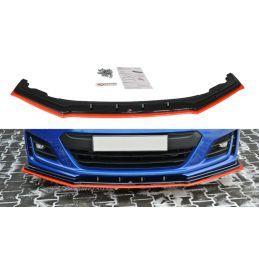 Maxton design Lame Du Pare-Chocs Avant / Splitter V.4 Subaru Brz Facelift Gloss Black + Red