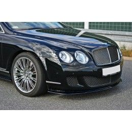 Maxton design Lame Du Pare-Chocs Avant / Splitter V.1 Bentley Continental Gt Textured