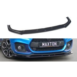 Maxton design Lame Du Pare-Chocs Avant / Splitter V.1 Suzuki Swift 6 Sport Textured