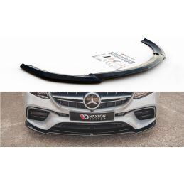 Maxton design Lame Du Pare-Chocs Avant V.1 Mercedes-Benz E63 Amg Estate/Sedan S213/W213 Textured
