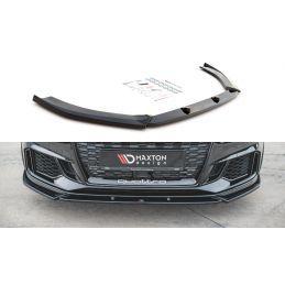 Maxton design Lame Du Pare-Chocs Avant V.4 Audi Rs3 8v Fl Sportback Textured