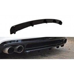 Maxton design Central Arrière Splitter Audi Tt S 8j (avec Une Barre Verticale) Gloss Black