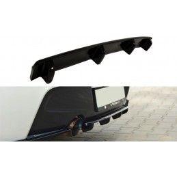 CENTRAL ARRIÈRE SPLITTER BMW 1 F20/F21 M-Power (avec barres verticales) Noir Brillant, Serie 1 F20/ F21