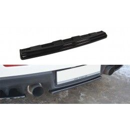 Maxton design Central Arrière Splitter Mitsubishi Lancer Evo X (sans Barres Verticales) Gloss Black