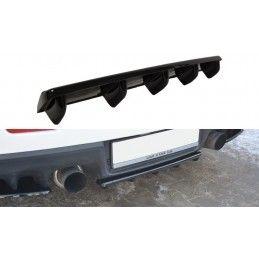 Maxton design Central Arrière Splitter Mitsubishi Lancer Evo X (avec Barres Verticales) Gloss Black